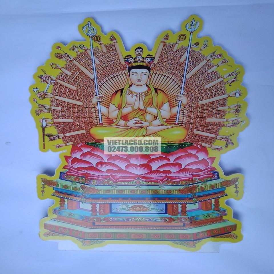 Tranh Phật Nghìn Mắt Nghìn Tay chất liệu nhựa xốp
