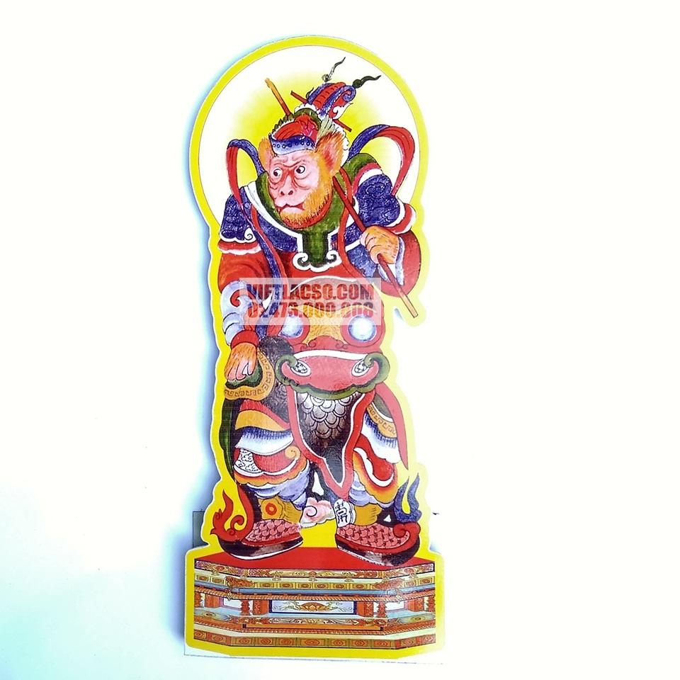 Tranh Tề Thiên Đại Thánh 40cm bìa cứng ép plastic