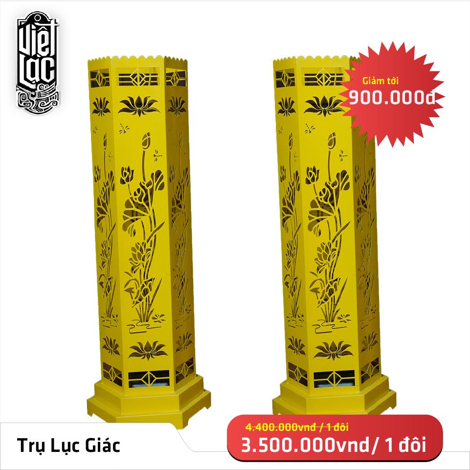 Trụ đèn hoa sen lục giác 110cm