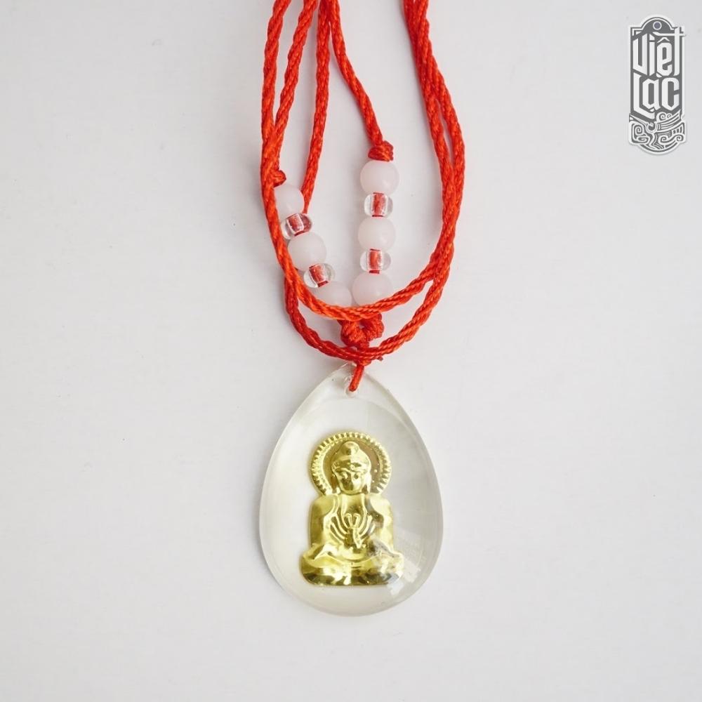 Vòng đeo cổ mặt đá giọt nước hình Phật may mắn