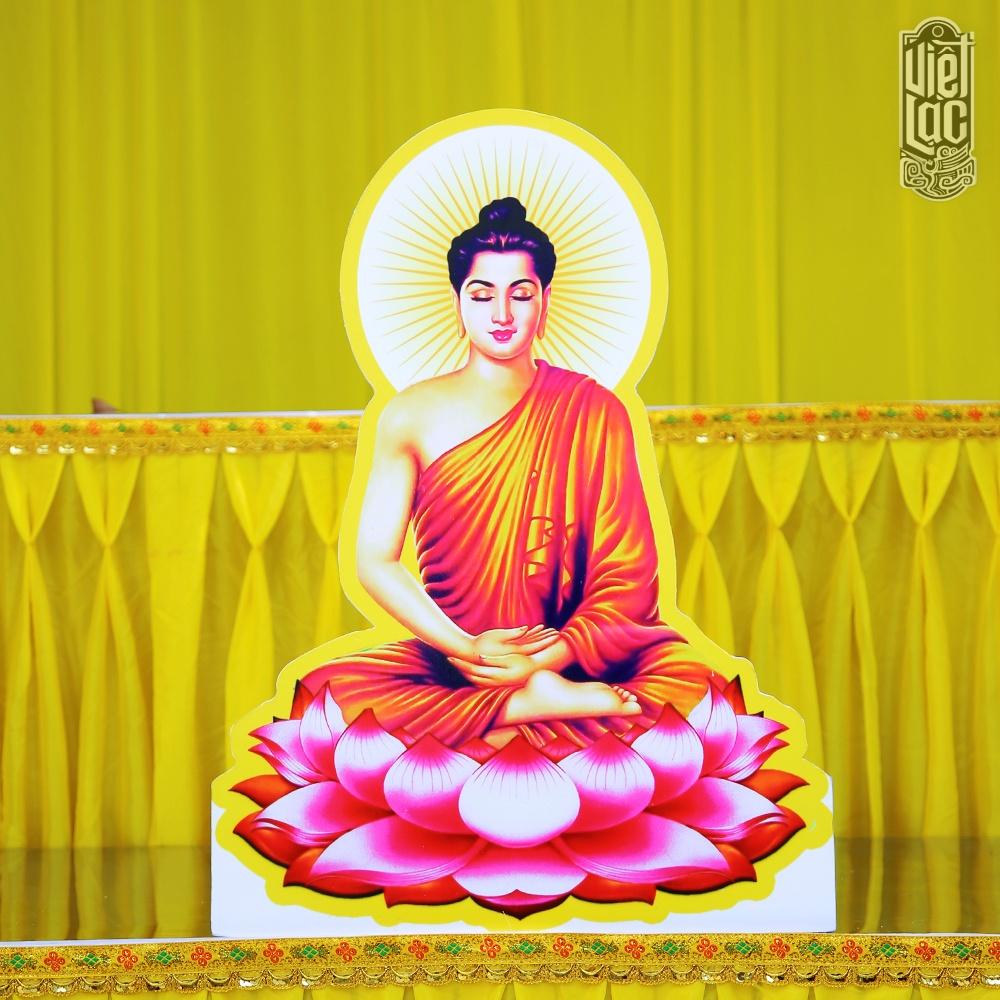 Tranh Đức Phật Thích Ca Mâu Ni chất liệu bìa cứng ép plastic