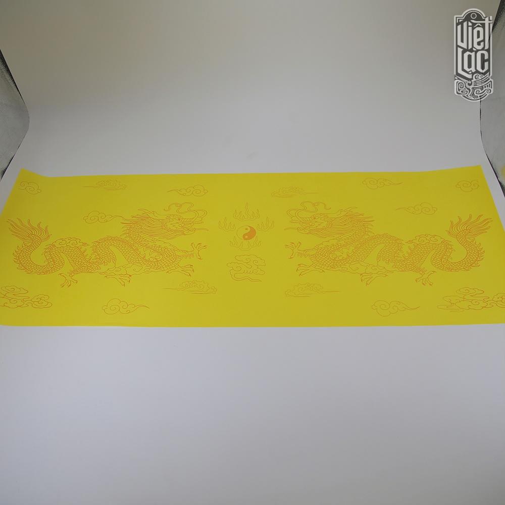 Giấy In Sớ Việt Lạc rồng chầu 30*80 cm 1000D60 nền vàng