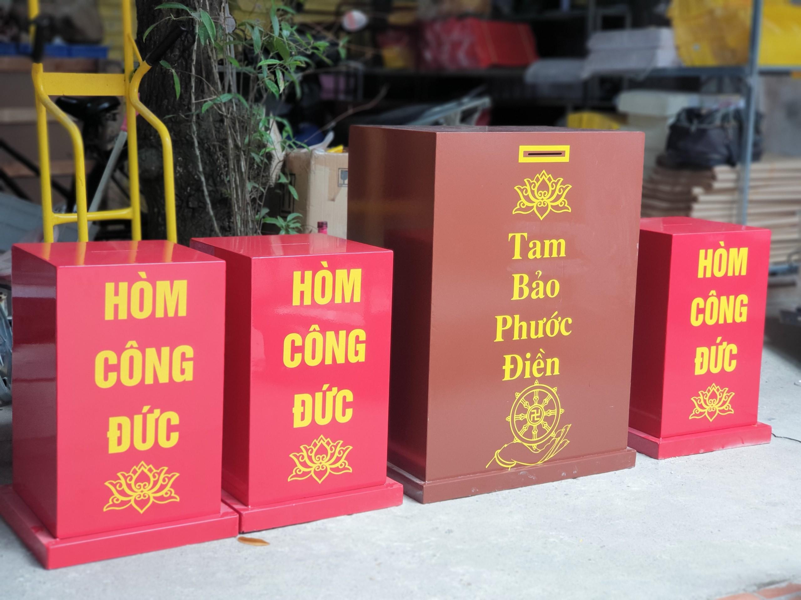 Hòm Công đức chống trộm Việt Lạc