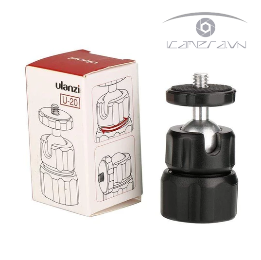 Ball head mini 1/4 inch gắn tripod U-20 Ulanzi (5)