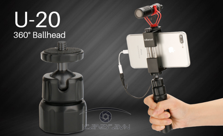 Ball head mini 1/4 inch gắn tripod U-20 Ulanzi (4)