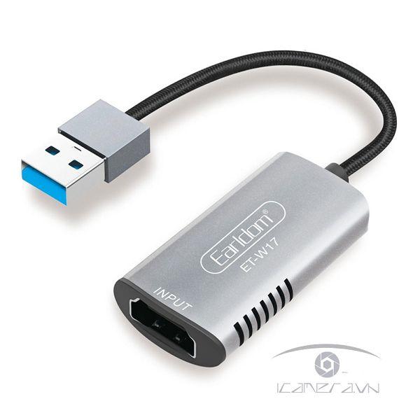Cáp HDMI to USB 3.0 Video Capture Earldom ET-W17