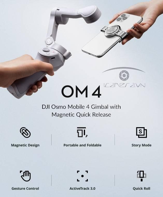 Tay cầm chống rung điện thoại - DJI OM4 chính hãng