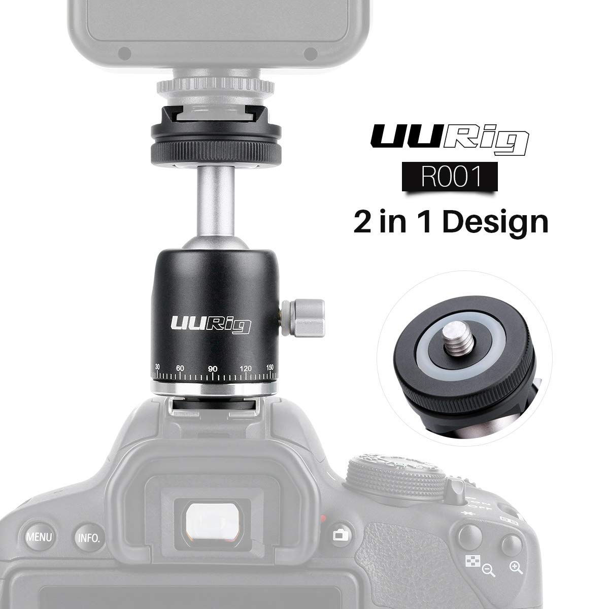 Ball head mini xoay 360 độ - UUrig R001 Ulanzi