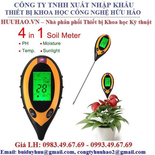 Máy đo độ PH và độ ẩm đất ATM 300A