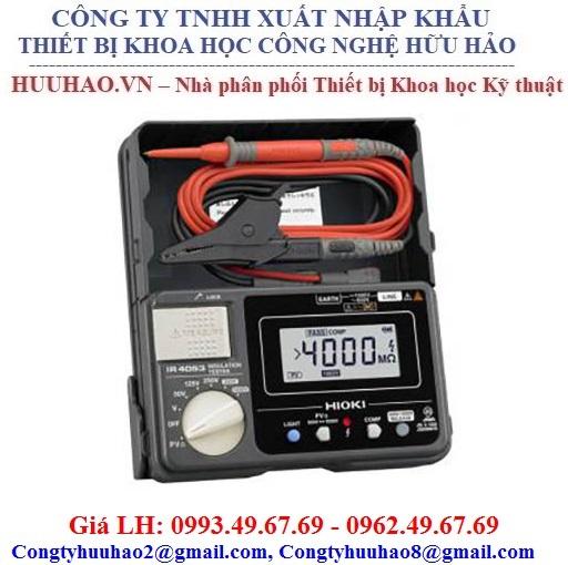 Đồng hồ đo điện trở cách điện Hioki IR4053 (1000V/4GΩ)