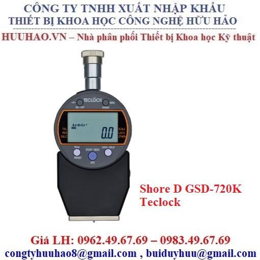 Đồng hồ đo độ cứng cao su hiện số Teclock GSD-720K