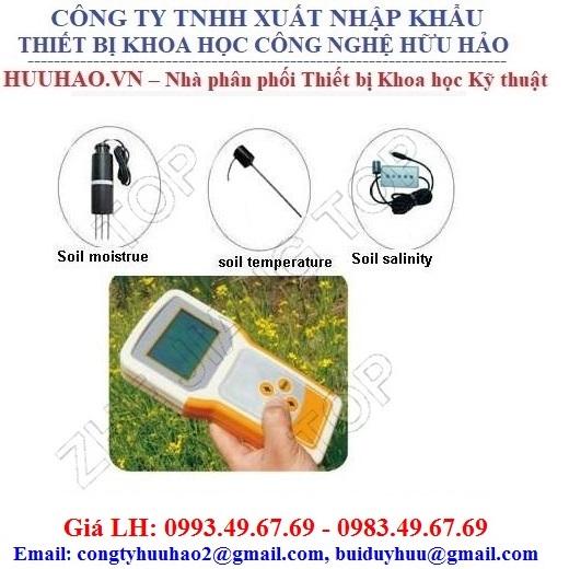 Máy kiểm tra độ ẩm, nhiệt độ và độ mặn của đất