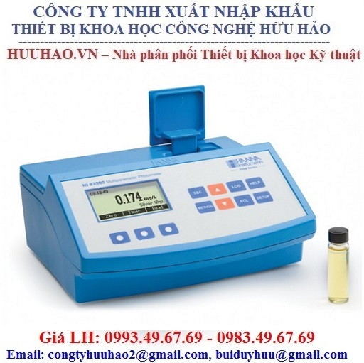 Máy quang kế đo đa chỉ tiêu cho bể bơi và spa Hanna HI83226-02