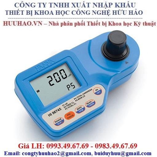 Máy đo Clo/Độ cứng/Sắt LR/PH Hanna HI96745 (6.5 - 8.5 pH)