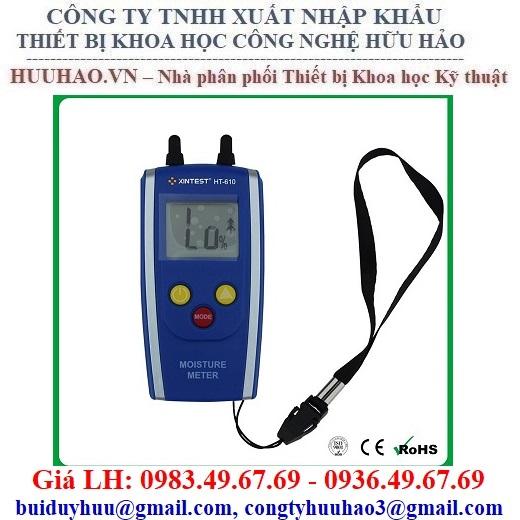 Máy đo độ ẩm Vật Liệu Xây Dựng, Gỗ, Tường HT610