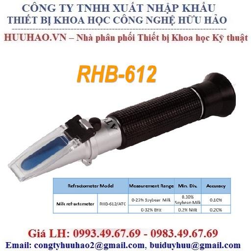 Khúc xạ kế đo nồng độ và độ ngọt sữa đậu nành RHB-612