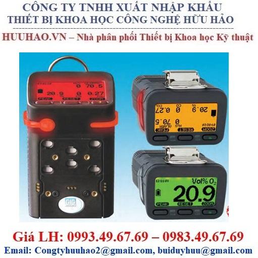 Máy dò 04 chỉ tiêu khí  LEL, O2, H2S, CO