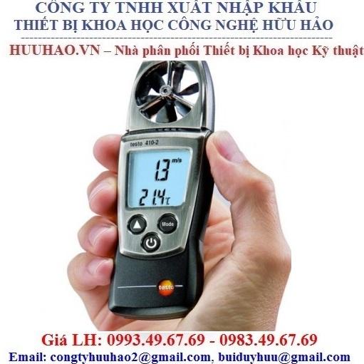 Máy đo tốc độ gió, nhiệt độ, độ ẩm testo 410-2