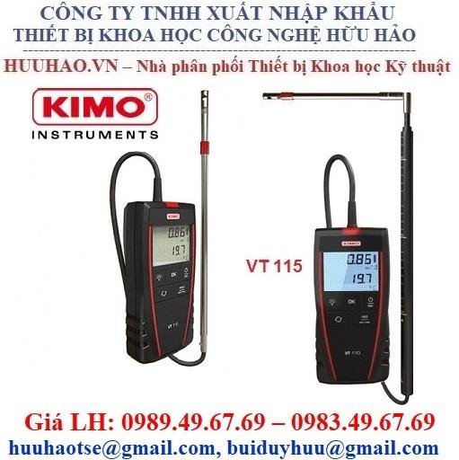 Máy đo tốc độ, lưu lượng gió và nhiệt độ kimo VT 115