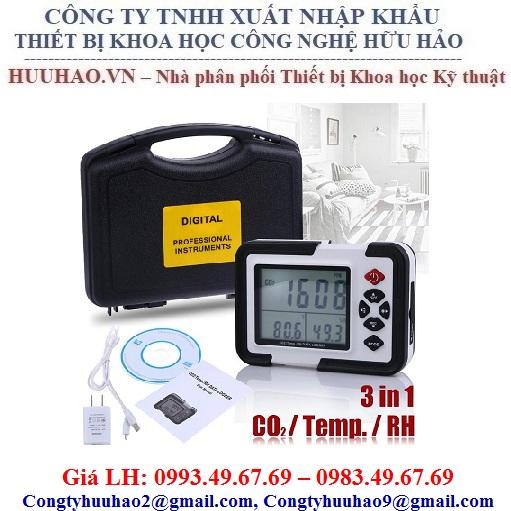 Máy đo và ghi nhiệt độ, độ ẩm, khí CO2 Model: HT-2000