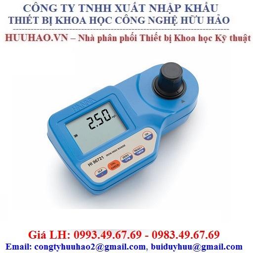 Máy đo nồng độ sắt HANNA HI 96721 (0.00 to 5.00 mg/L)