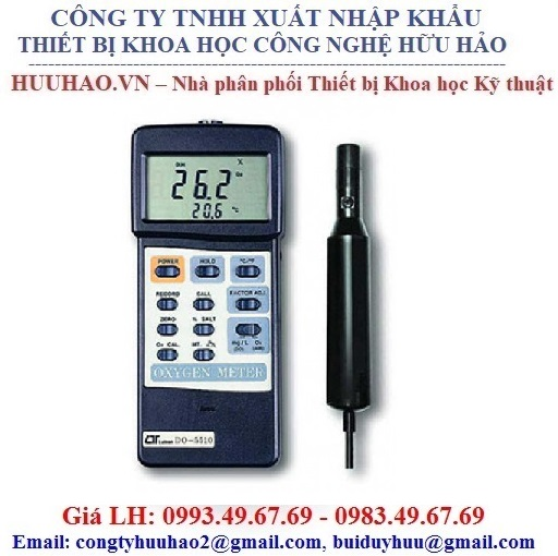 Máy đo nồng độ Oxy hòa tan Lutron DO-5510
