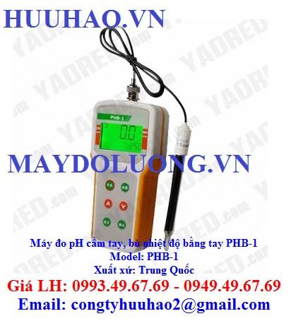 Máy đo pH cầm tay, bù nhiệt độ bằng tay PHB-1