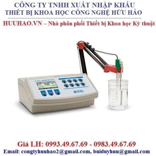 Máy đo pH/ mV/ ISE/ Nhiệt độ để bàn HI 3221