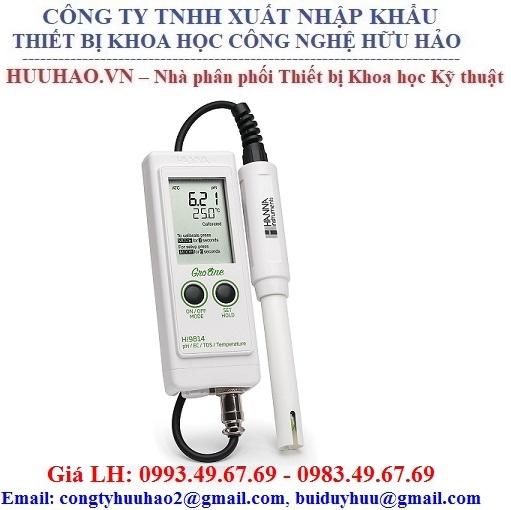 Máy đo pH/EC/TDS/Nhiệt độ cho Hydro Hanna HI9814