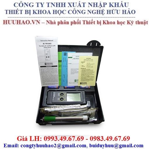 Máy đo pH/pH-mV/ORP/Nhiệt độ Hanna HI991003