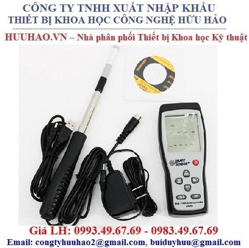 Máy đo tốc độ, lưu lượng, nhiệt độ gió SmartSensor AR866