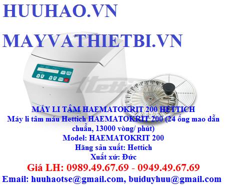 BẢNG GIÁ MÁY LI TÂM HAEMATOKRIT 200 HETTICH