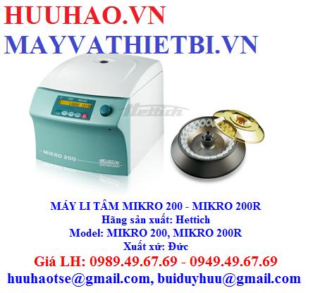 BẢNG GIÁ MÁY LI TÂM MIKRO 200 - MIKRO 200R