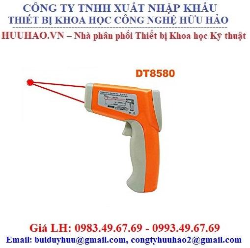 Súng Đo Nhiệt Đến 580 Độ, 2 Tia Laser DT8580