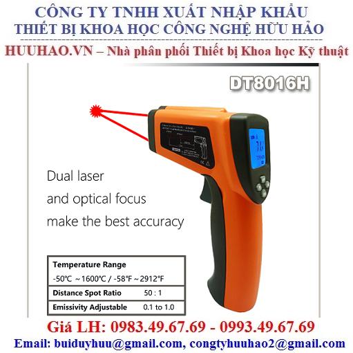 Máy đo nhiệt độ từ xa 1600 Độ DT8016H