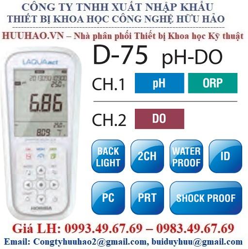 Máy đo đa chỉ tiêu nước cầm tay D-75A-K Horiba