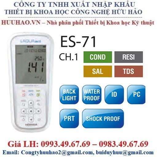 Máy đo Độ dẫn / Điện trở / Độ mặn / TDS Horiba ES-71A-S