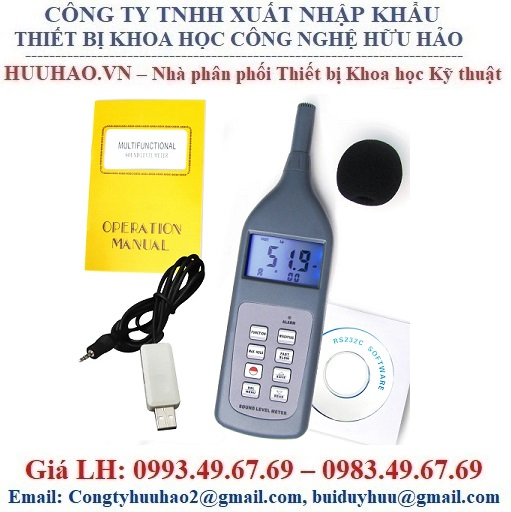 Máy đo độ ồn, Máy đo cường độ âm thanh SL – 5868P