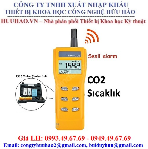Máy đo nồng độ khí CO2 và nhiệt độ cầm tay AZ 7752