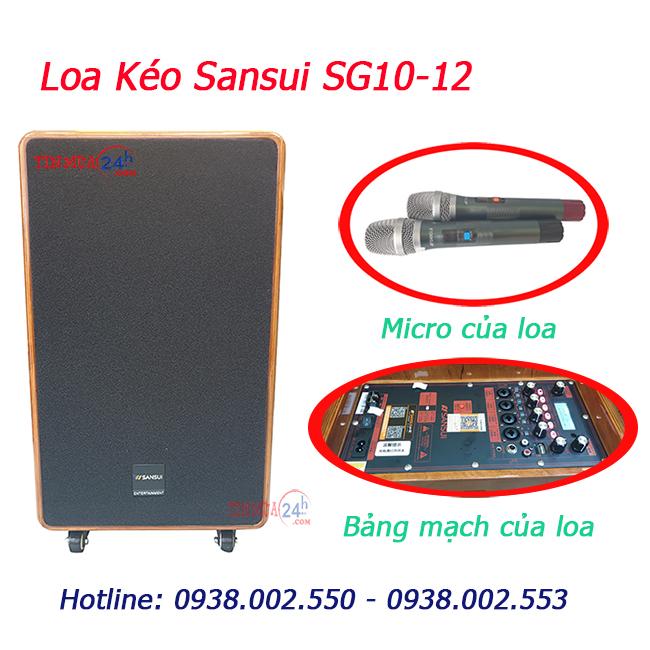 Loa keo keo Sansui SG10-12 chính hãng, giá tốt tại Tinmua24h
