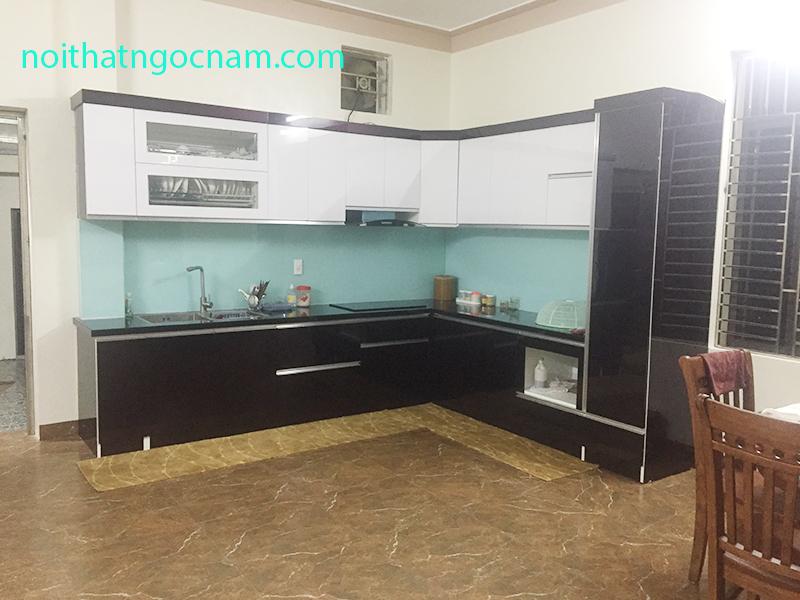 Thiết kế đóng tủ bếp đẹp tại TT Chũ - Lục Ngạn - BG giá rẻ