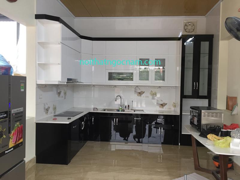 Tủ bếp Acrylic bóng giương đẹp nhất hiện nay