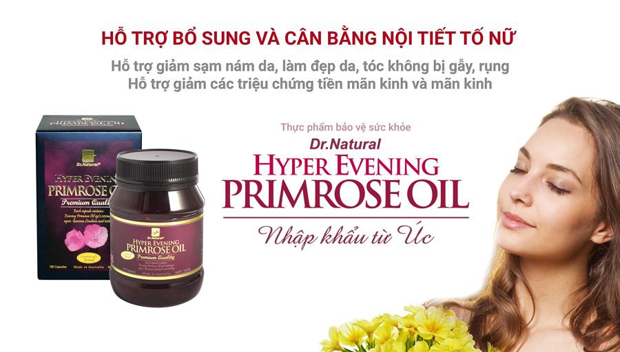 Viên uống bổ sung nội tiết Úc Dr Natural Hyper Evening Primrose ...