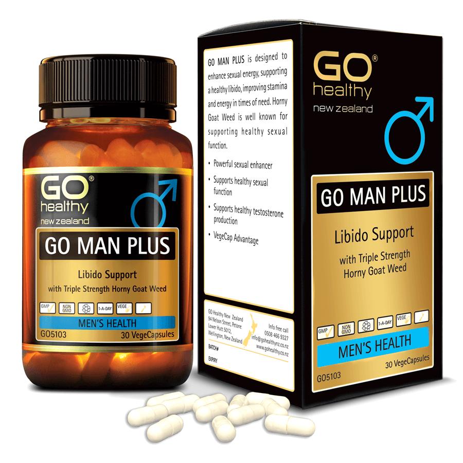 Viên uống cải thiện sinh lý nam nhập khẩu chính hãng New Zealand GO MAN PLUS (30 viên) giúp tăng cường sinh lực ở nam giới, tăng cường khả năng sinh lý ở nam giới, cải thiện và làm chậm quá trình mãn dục nam