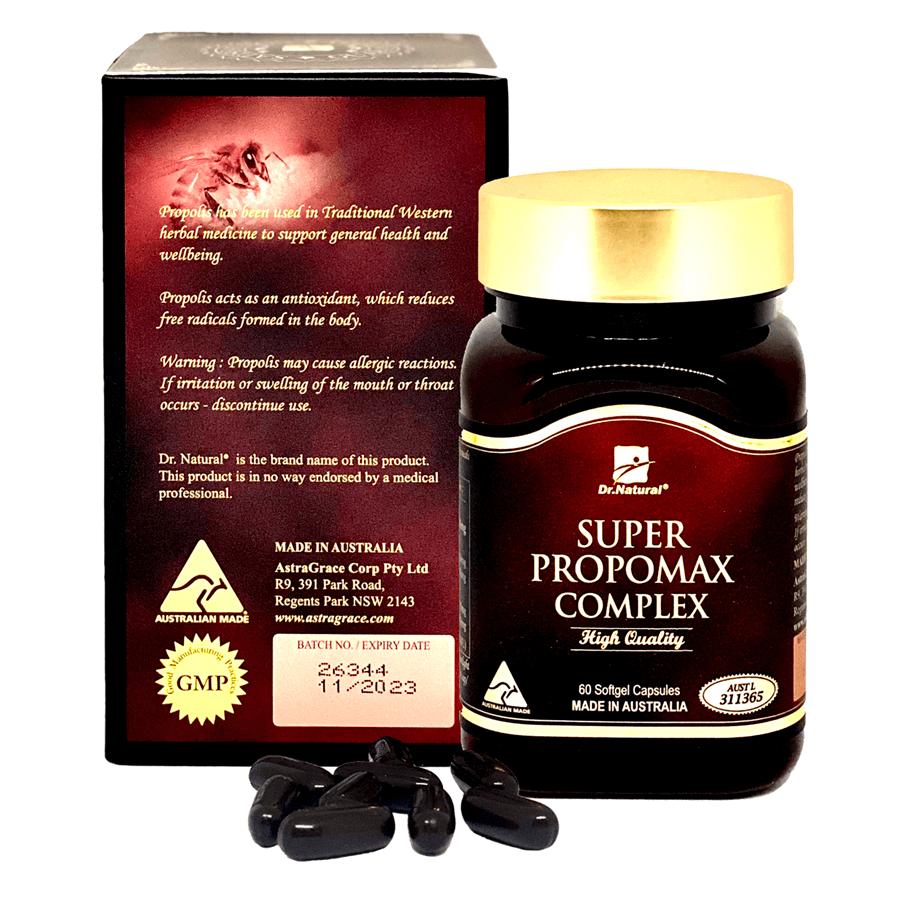 Viên uống keo ong tăng cường hệ miễn dịch, tăng sức đề kháng nhập khẩu chính hãng Úc SUPER PROPOMAX COMPLEX 60 viên