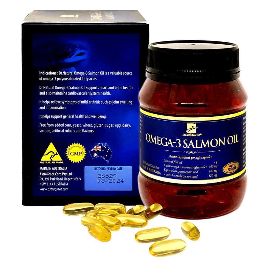 Viên uống Omega 3 cá Hồi nhập khẩu chính hãng Úc Dr Natural Omega3 Salmon Oil