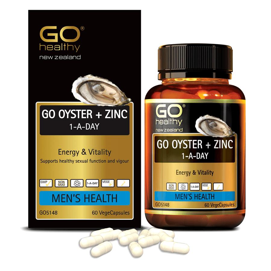 Viên uống tinh chất Hàu nhập khẩu chính hãng New Zealand GO OYSTER + ZinC (60 viên) giúp tăng cường sinh lý nam, cải thiện chất lượng tinh trùng
