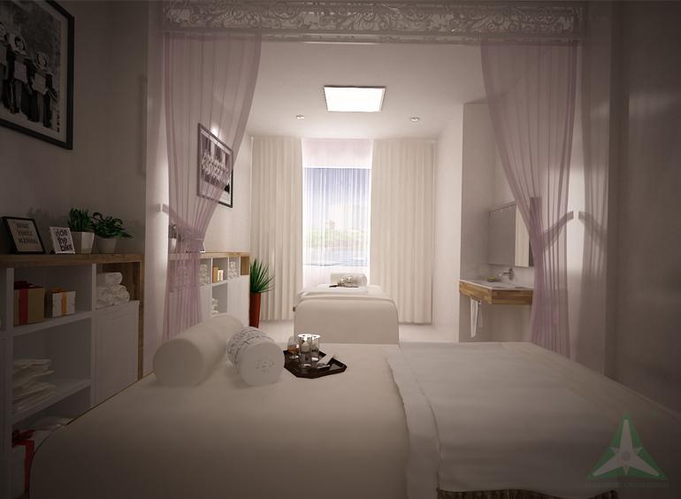 thiết kế thi công nội thất spa