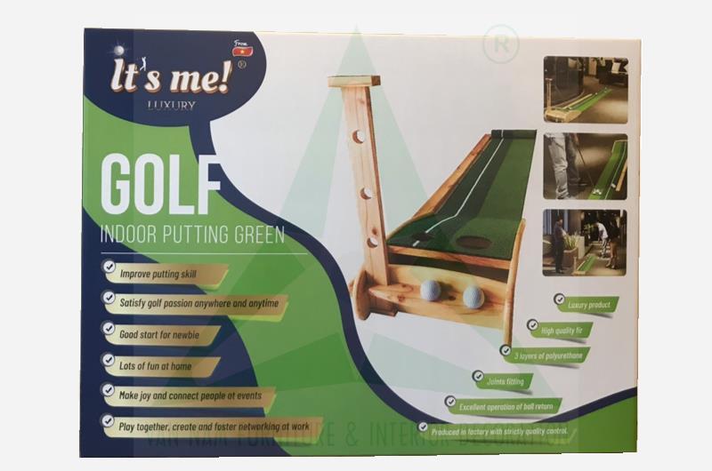 Bộ tập golf trong nhà bằng gỗ