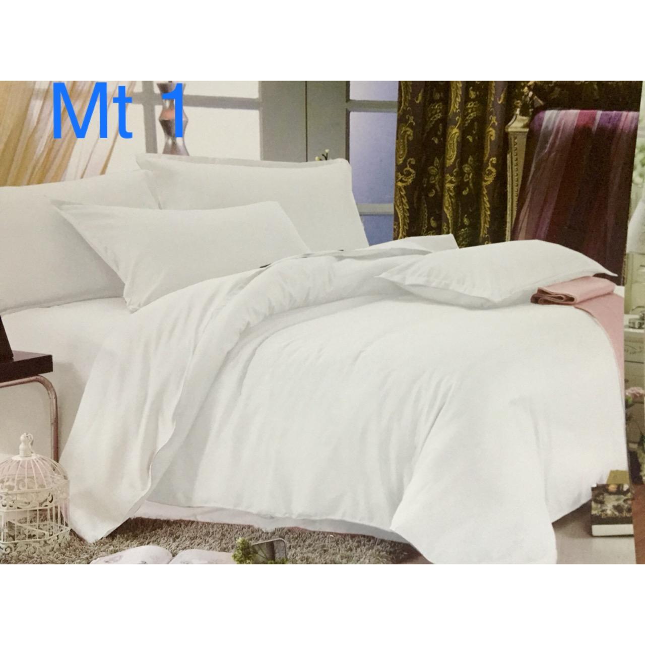 Chăn ga màu trắng trơn (loại dùng cho khách sạn)